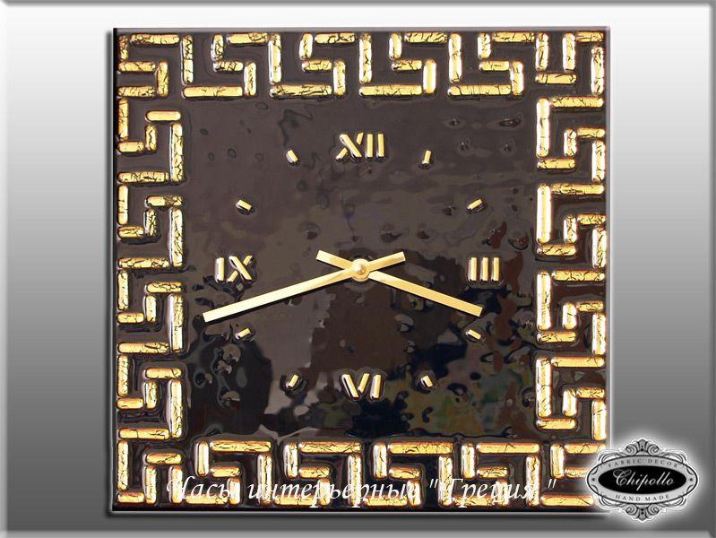 часы Греция с золотым декором
