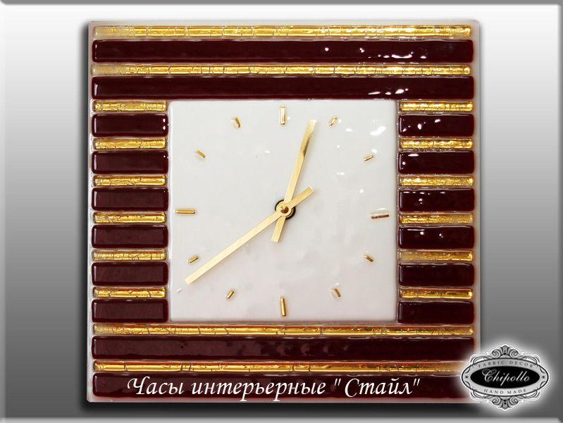 часы Стайл с золотым декором