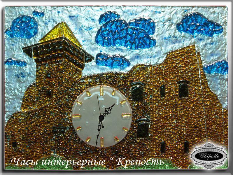 часы с декором (Замок)