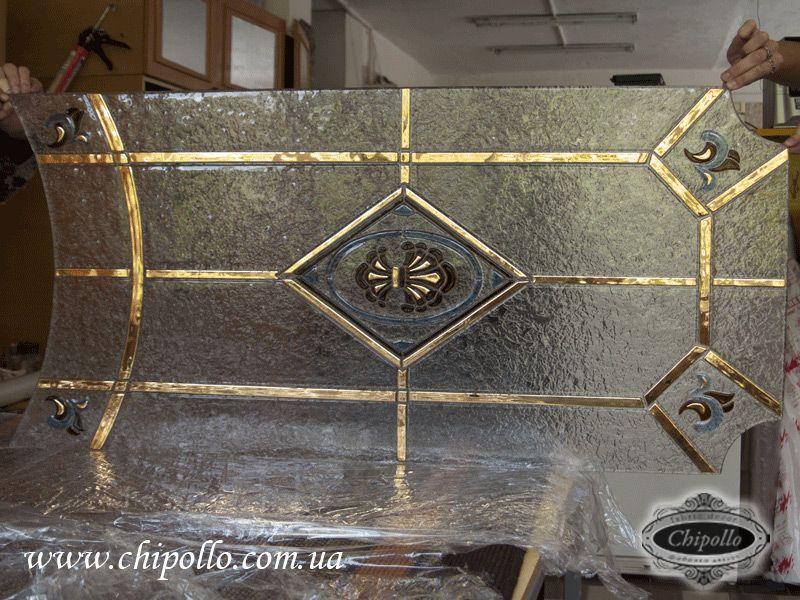 витражный декор с золотом (фьюзинг)