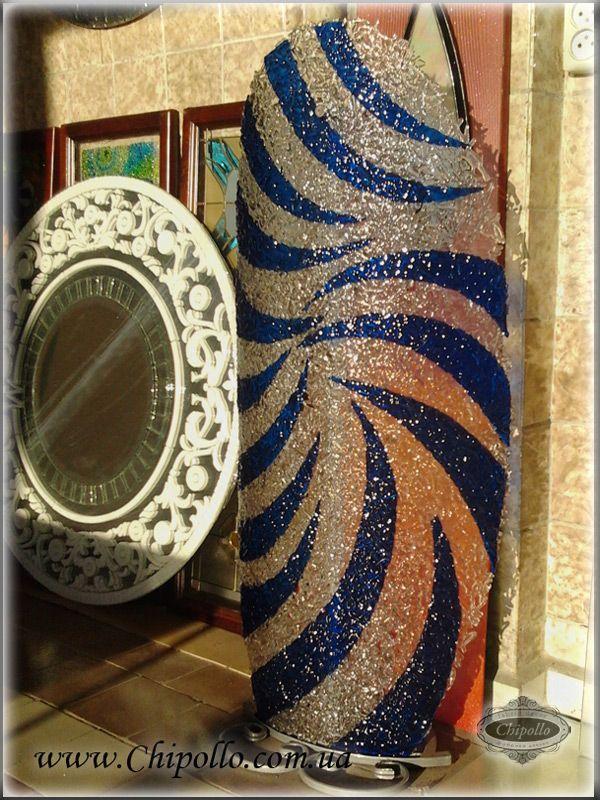 декор из цветного стекла