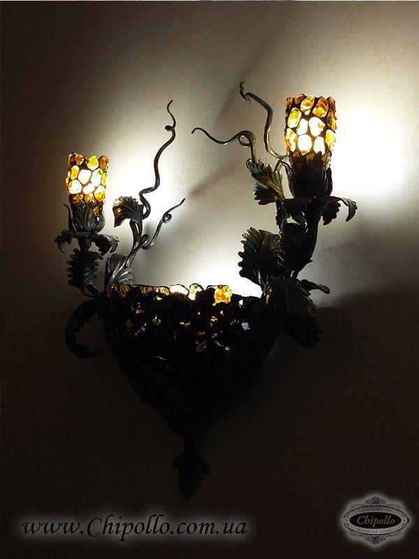 светильники из витража