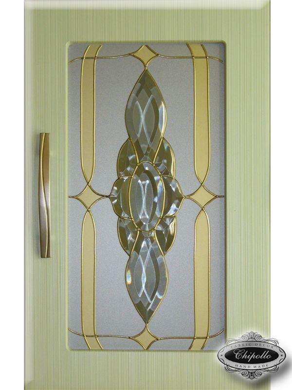 стеклянное панно на кухню с золотом (оливка)