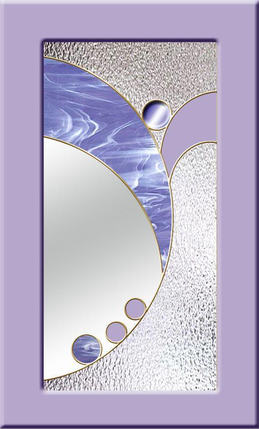 фиолетовые стекла для кухонных фасадов