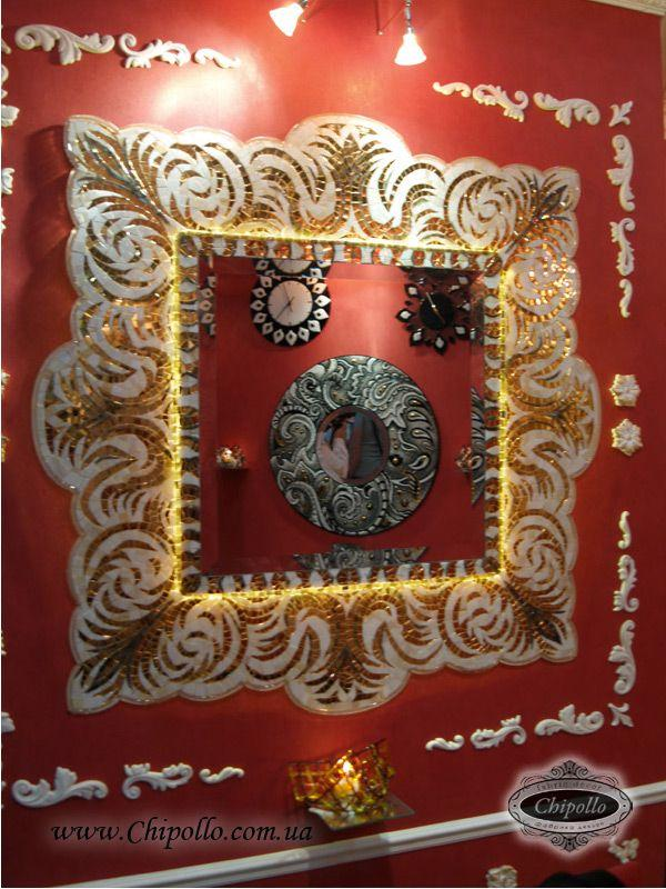 декоративное зеркало с витражом