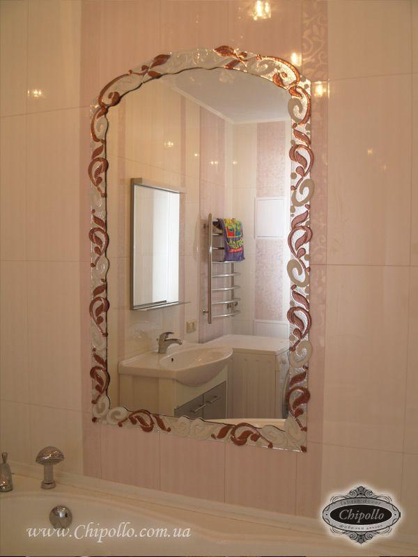 декоративное зеркало в ванную