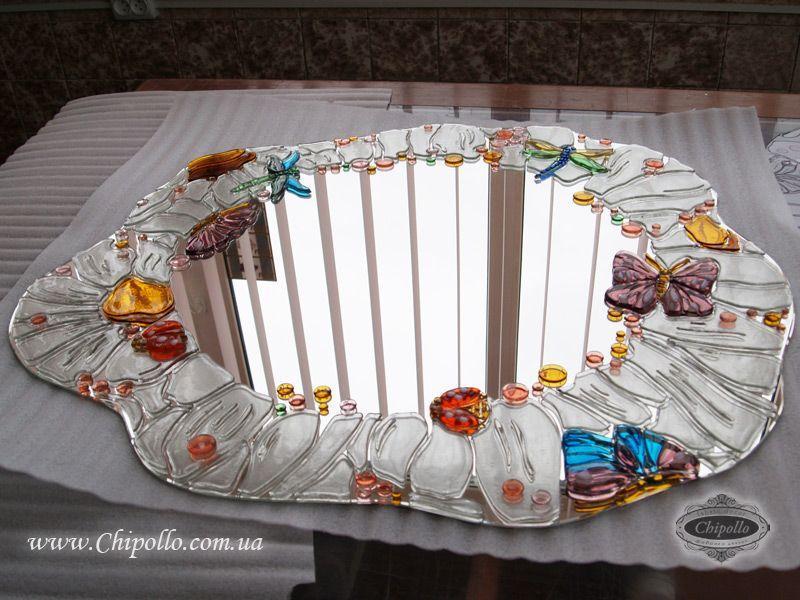 зеркало с витражным декором