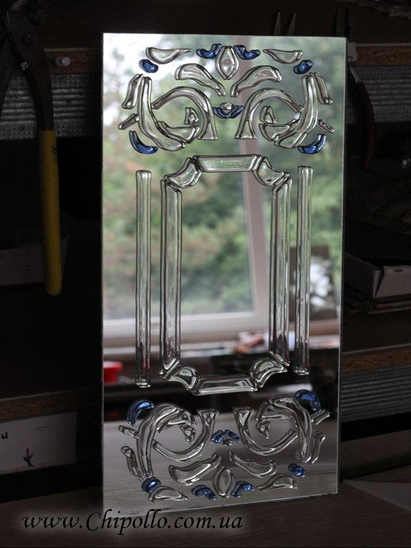 декоративное зеркало с фьюзингом
