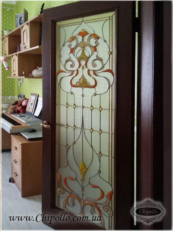 витражный декор в межкомнатные двери