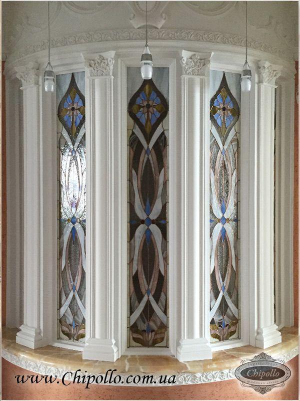 витражные окна из цветного стекла