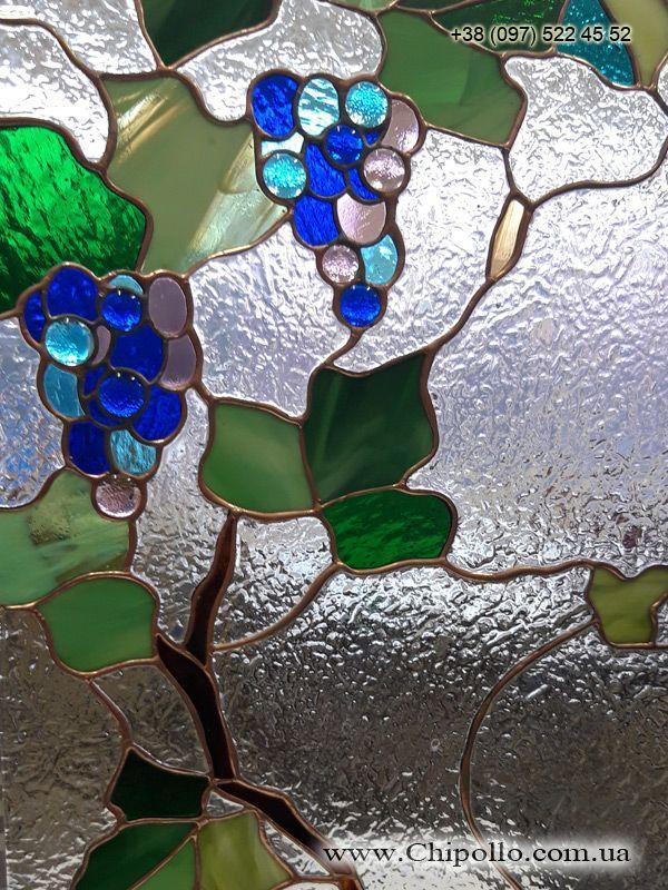 витражное окно Виноградная лоза