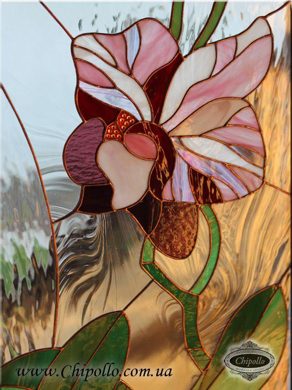 витражный декор Орхидея