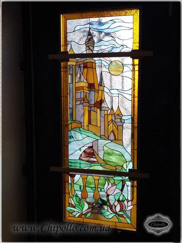 витражное окно Замок