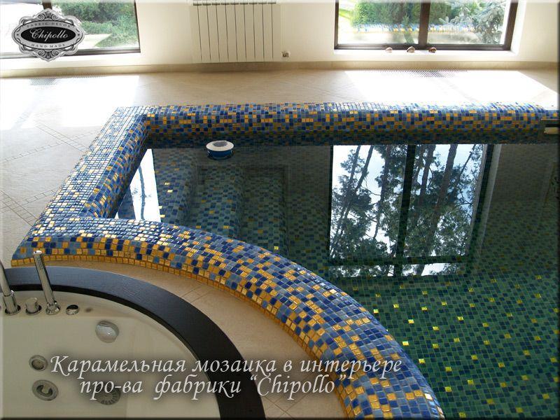 бассейн из плитки (цветная мозаика)