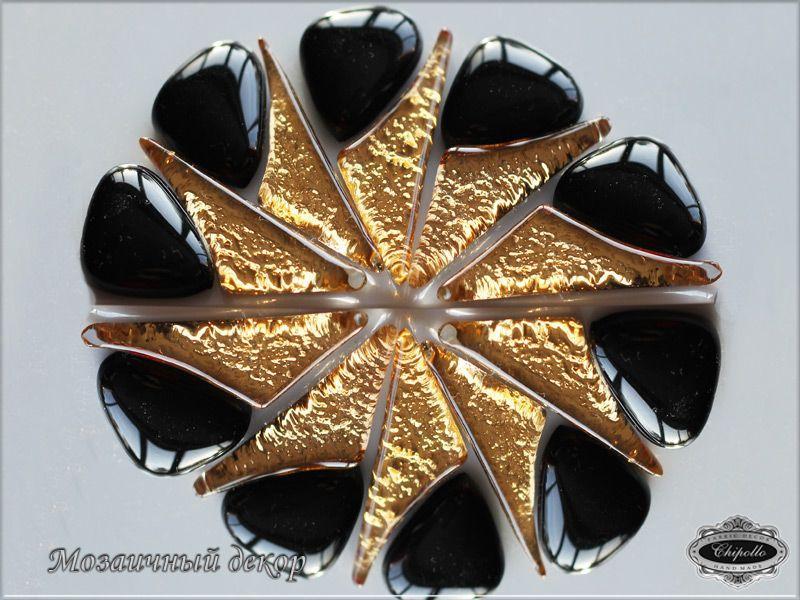 мозаичный декор с золотом