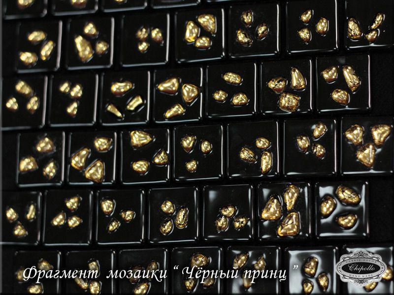 витраж мозаика с золотом