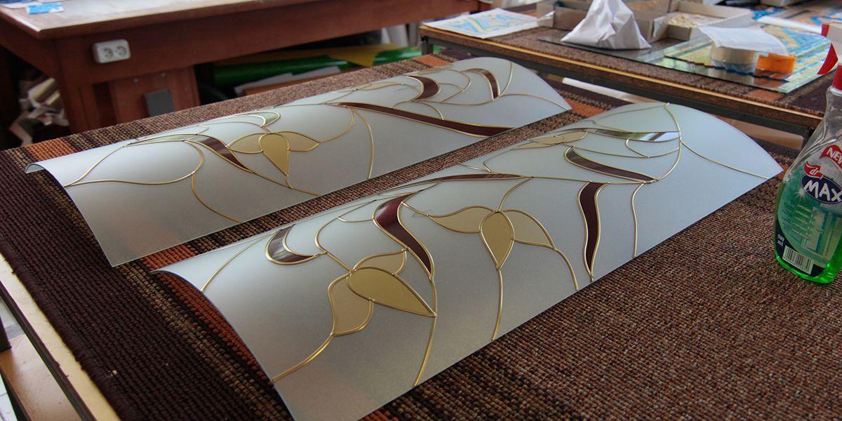 матовое витражное стекло для кухонного фасада