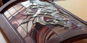 витражное стекло для кухонных фасадов (фото)